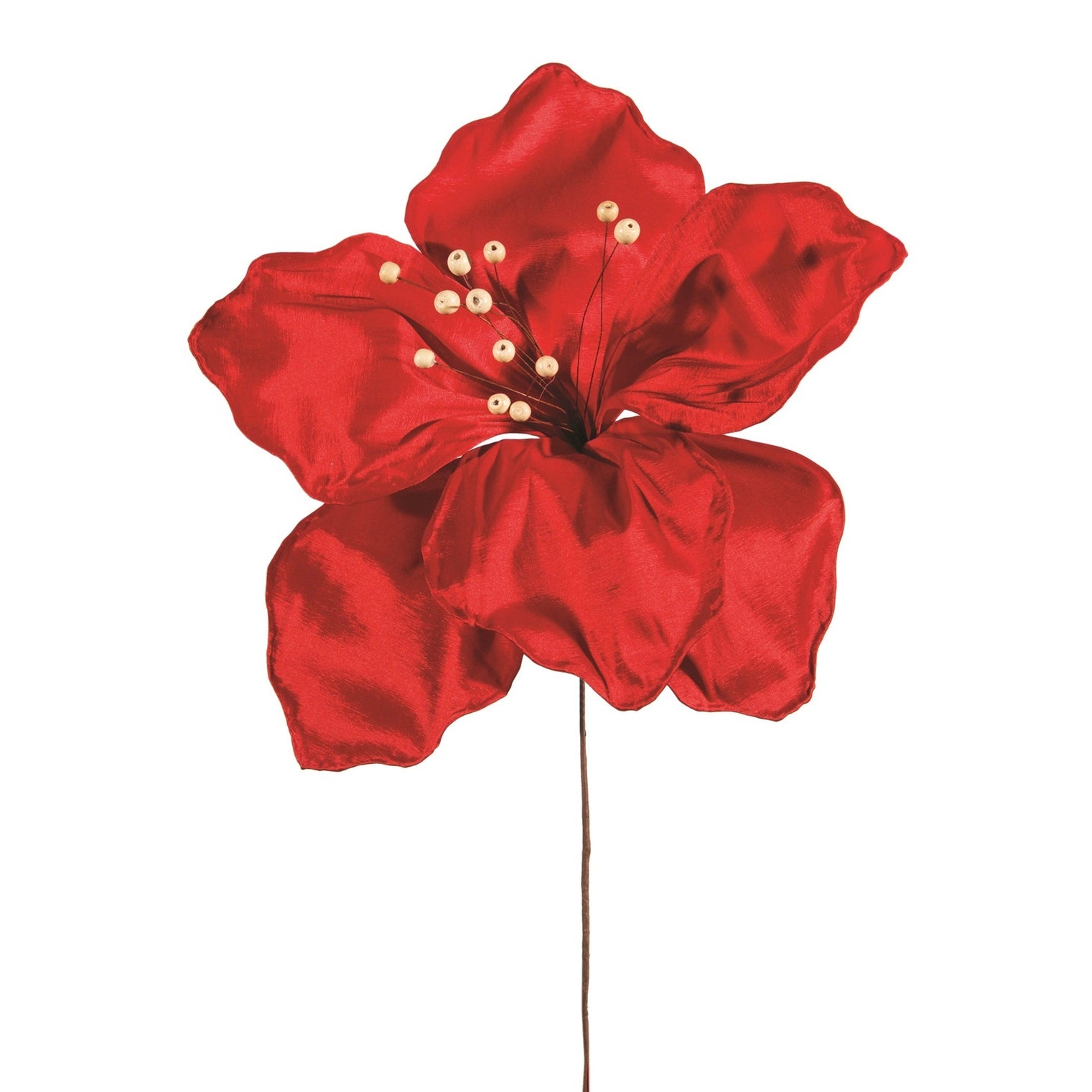 Red Shantung Oversized Flower Spray