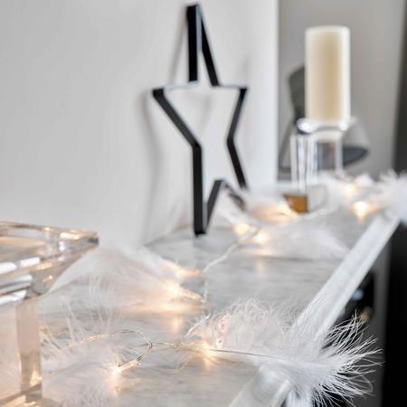 White Feather LED Lights | Putti Party Decorations Canada