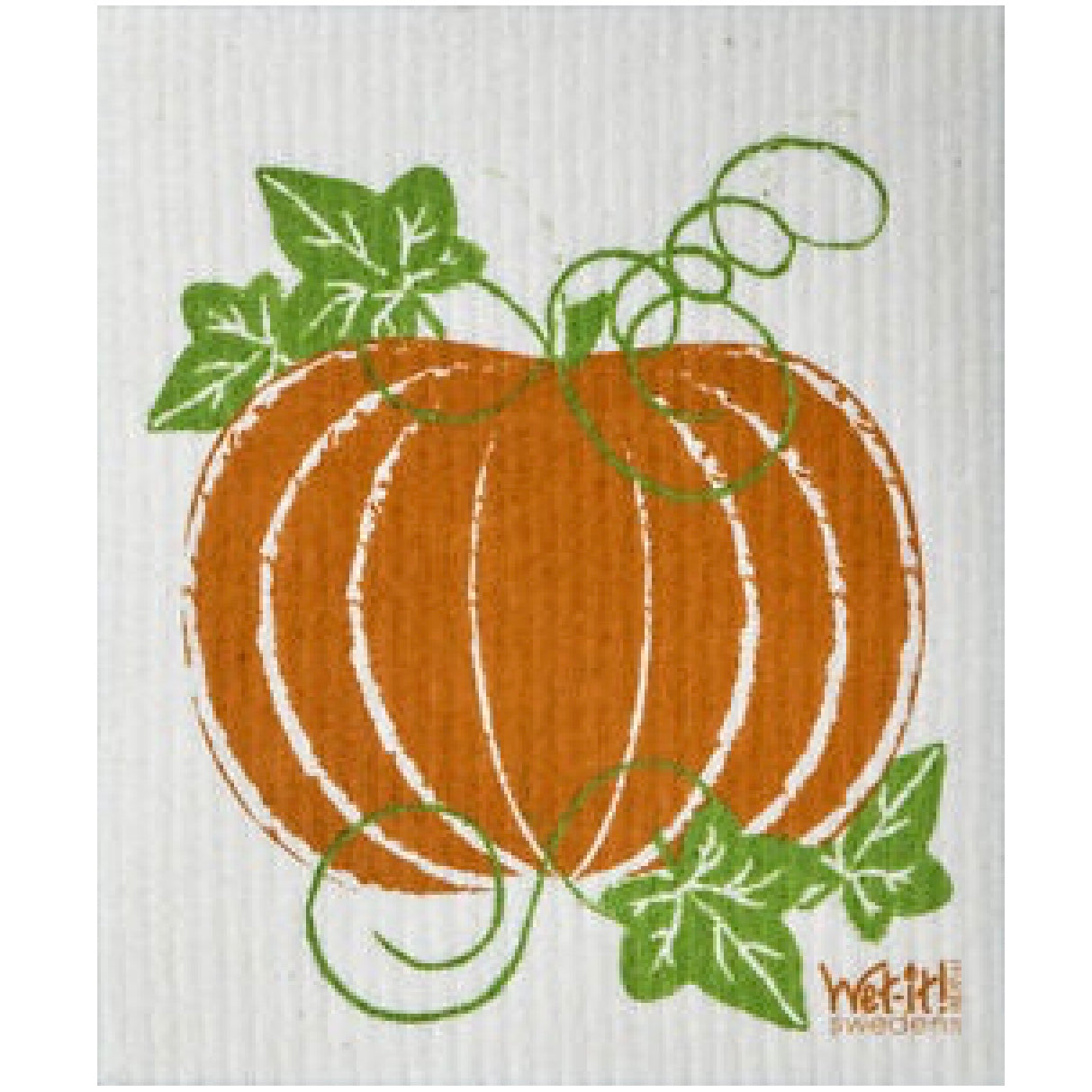 Wet it! Pumpkin Swedish Cloth