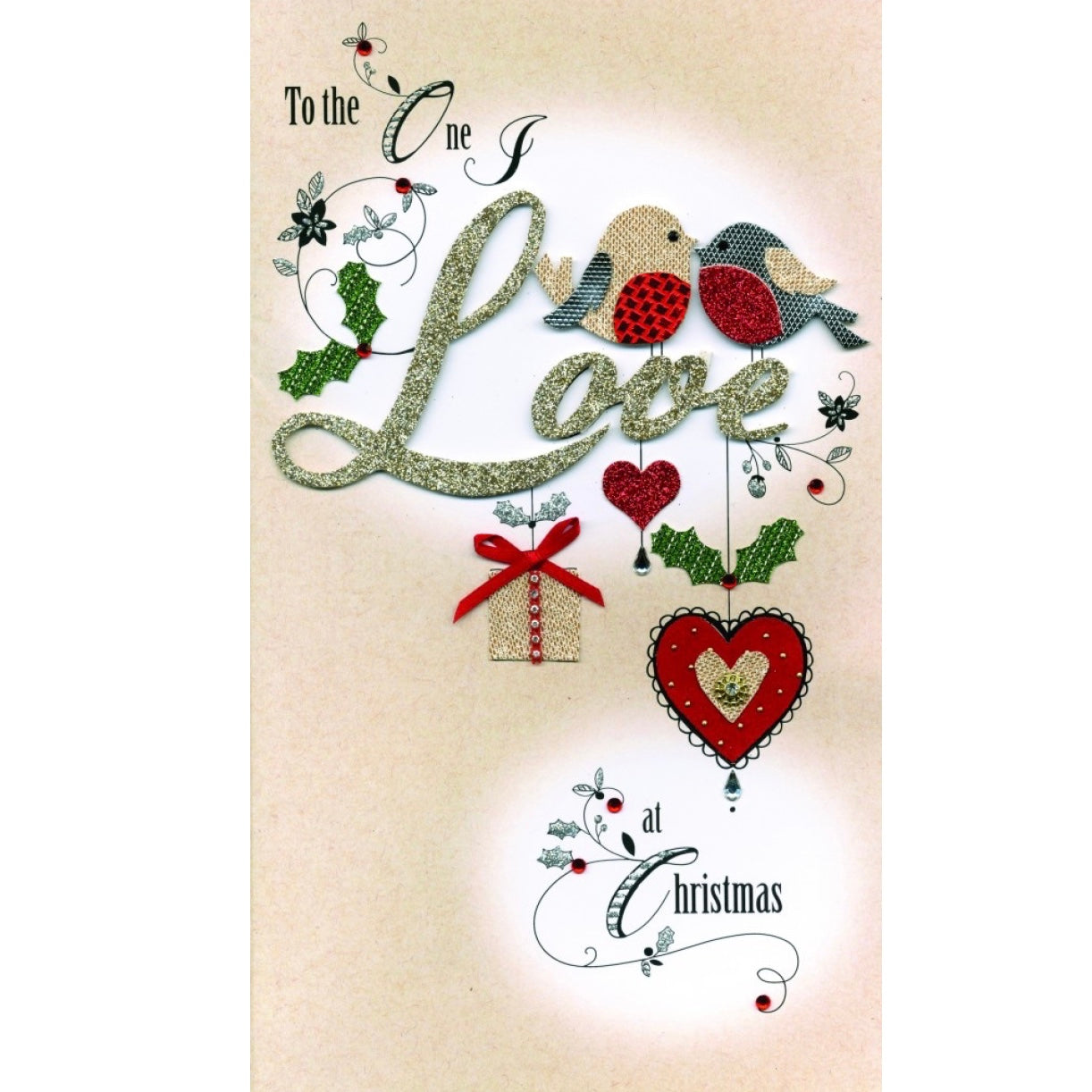 """To the One I Love""  Boxed Luxury Christmas Greeting Card  