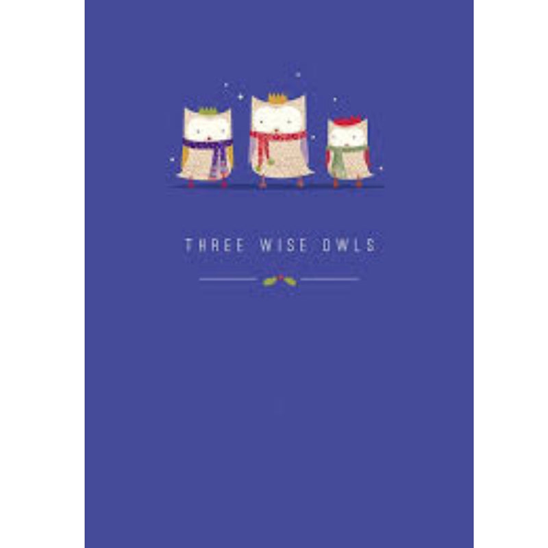 "The Art File ""Three Wise Owls"" Boxed Christmas Cards 