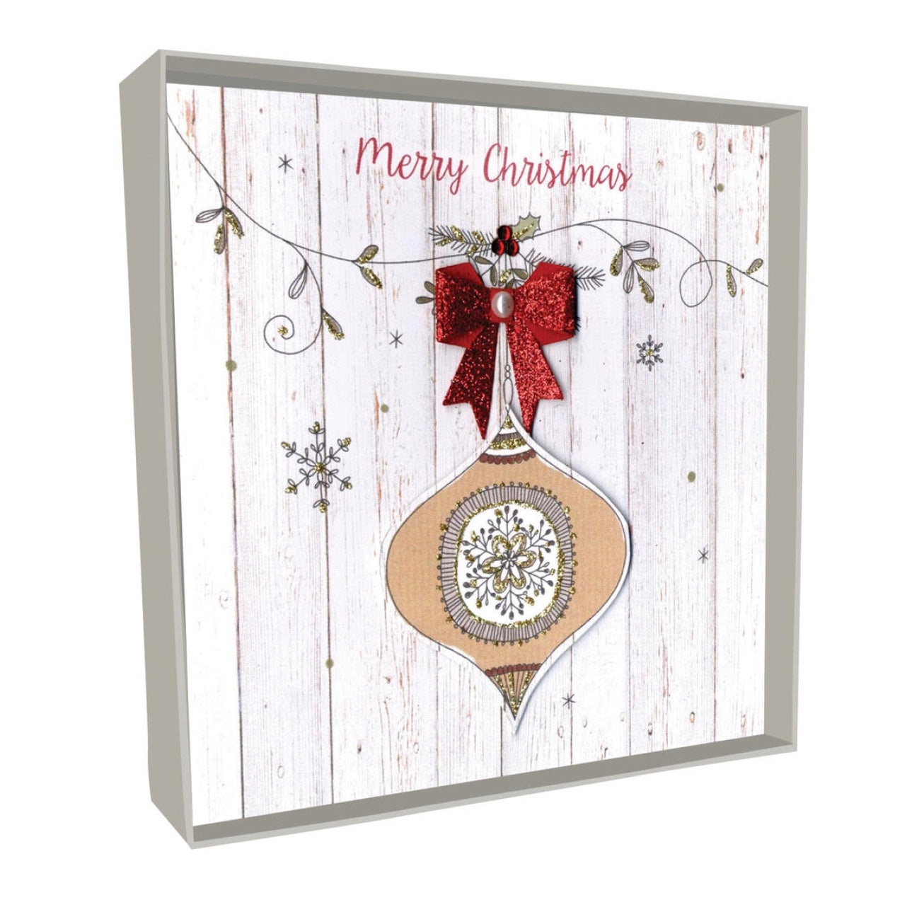 """Merry Christmas"" Bauble Boxed Christmas Greeting Cards 