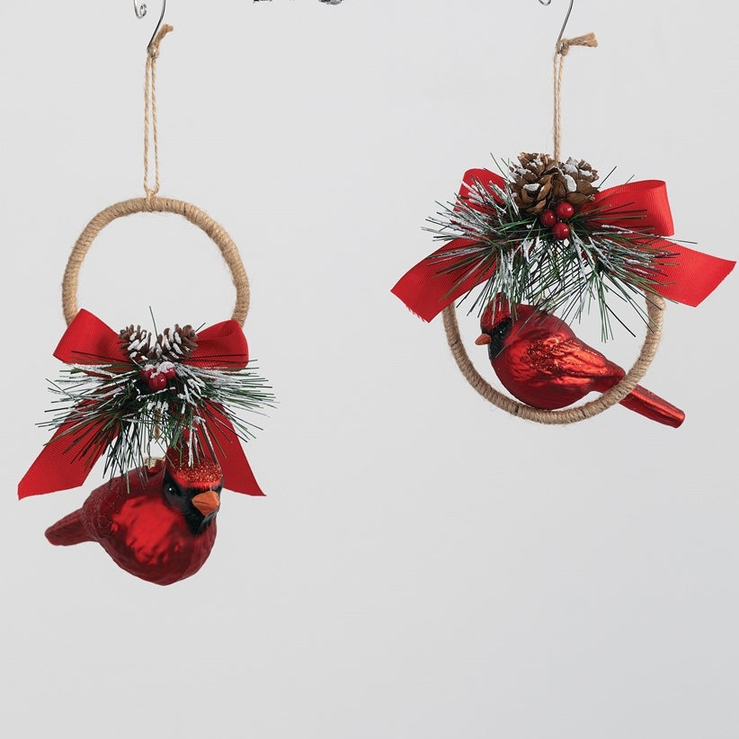 Sullivans Cardinal Hoop Ornament | Putti Christmas Decorations