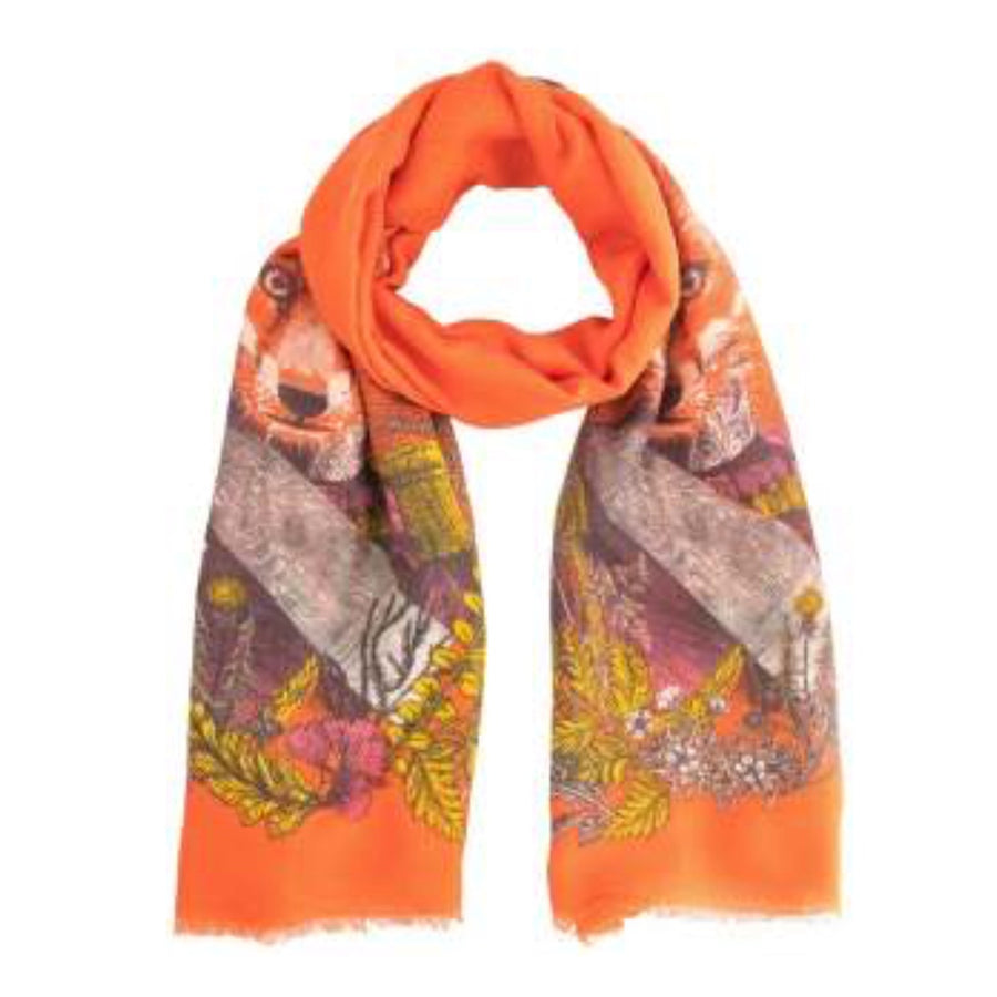 "Powder ""General Fox"" Print Scarf"