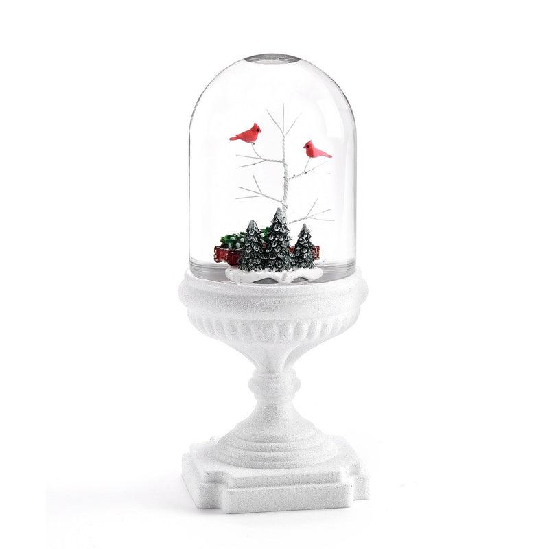 Perpetual LED Dome Water Lantern with Cardinals | Putti Christmas Celebrations