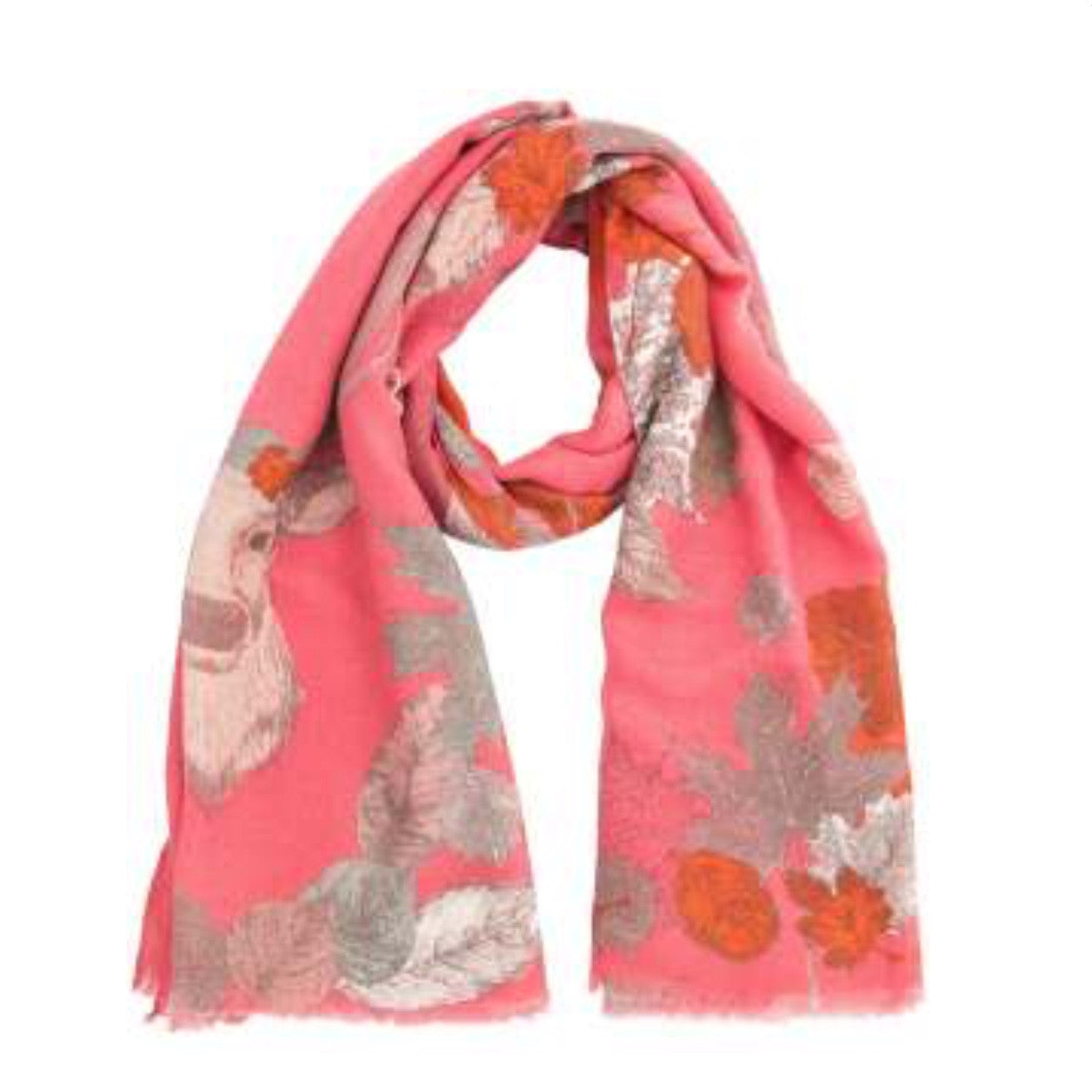 """Autumn Stag"" Print Scarf, PDL-Powder Design Limited, Putti Fine Furnishings"