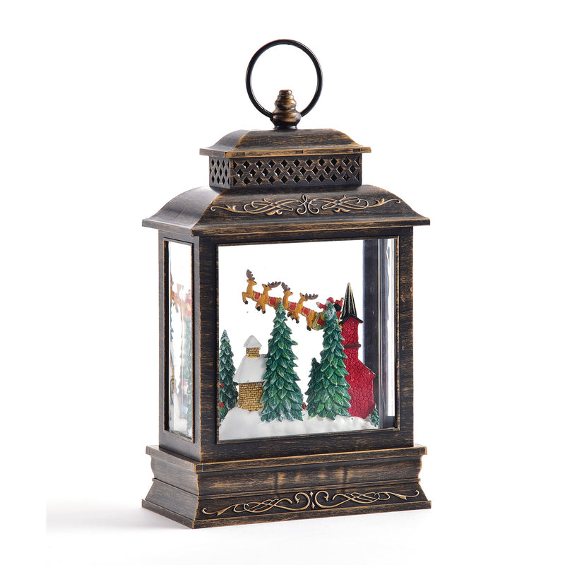Perpetual Lantern with Village Scene and LED Light | Putti Christmas Celebrations