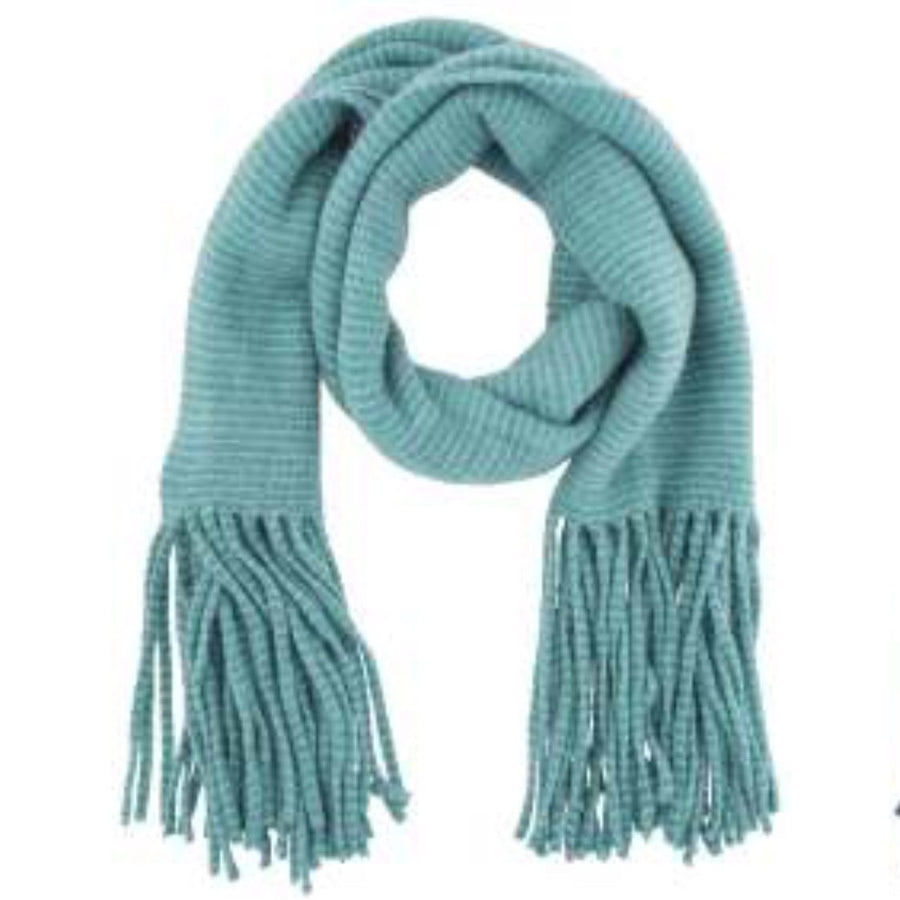 """Isla"" Knit Scarf - Teal-Personal Accessories-PDL-Powder Design Limited-Putti Fine Furnishings"