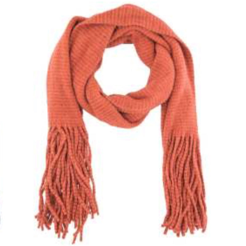 """Isla"" Knit Scarf - Tangerine-Personal Accessories-PDL-Powder Design Limited-Putti Fine Furnishings"