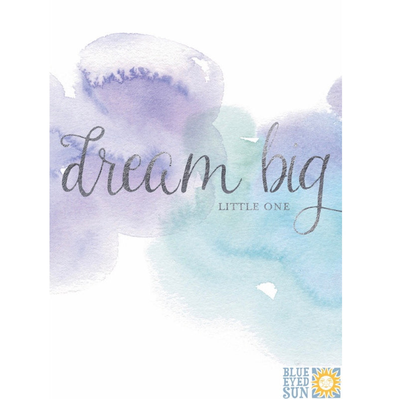 Dream Big Little One Water Color Greeting Card | Putti