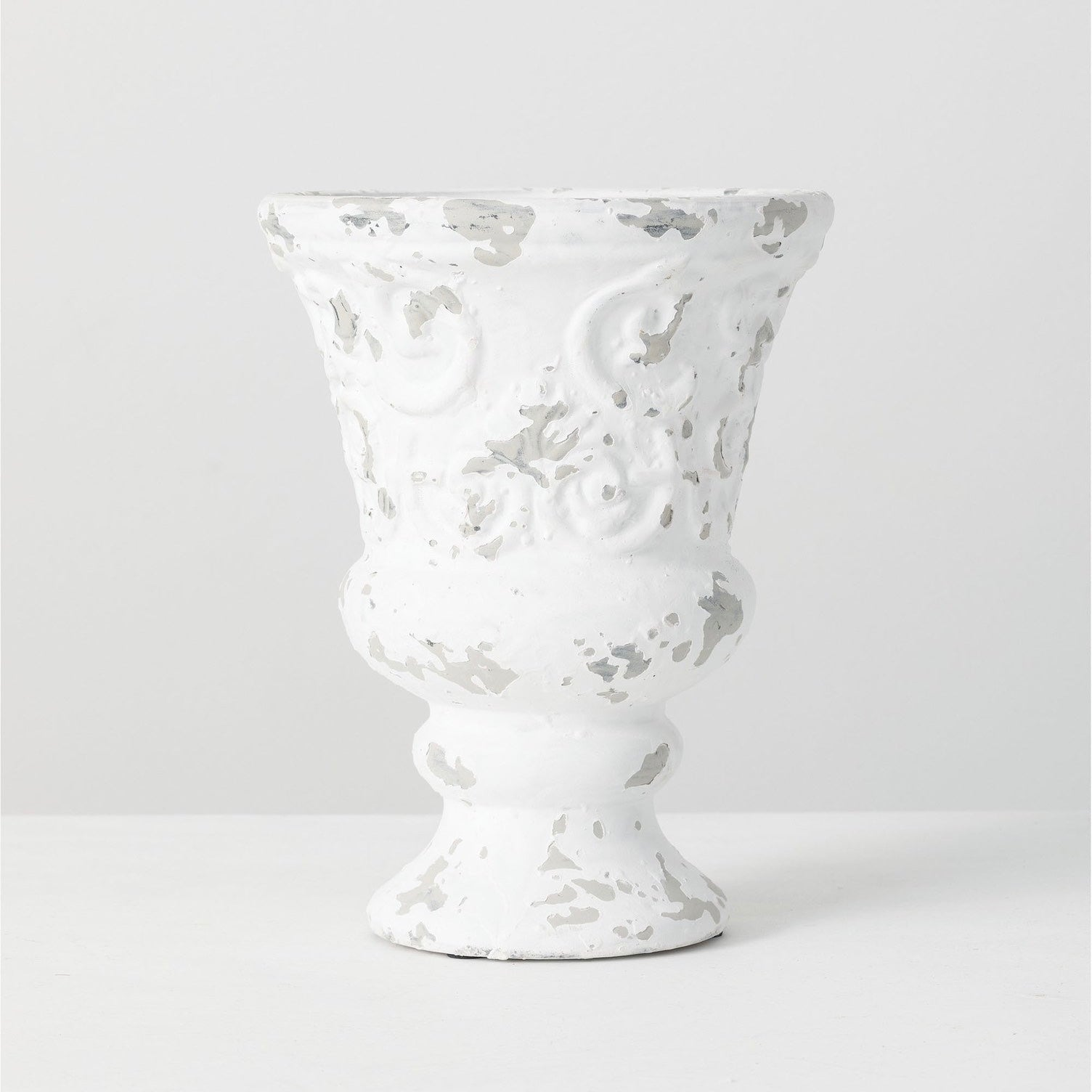 White Terra Cotta Urn - Medium