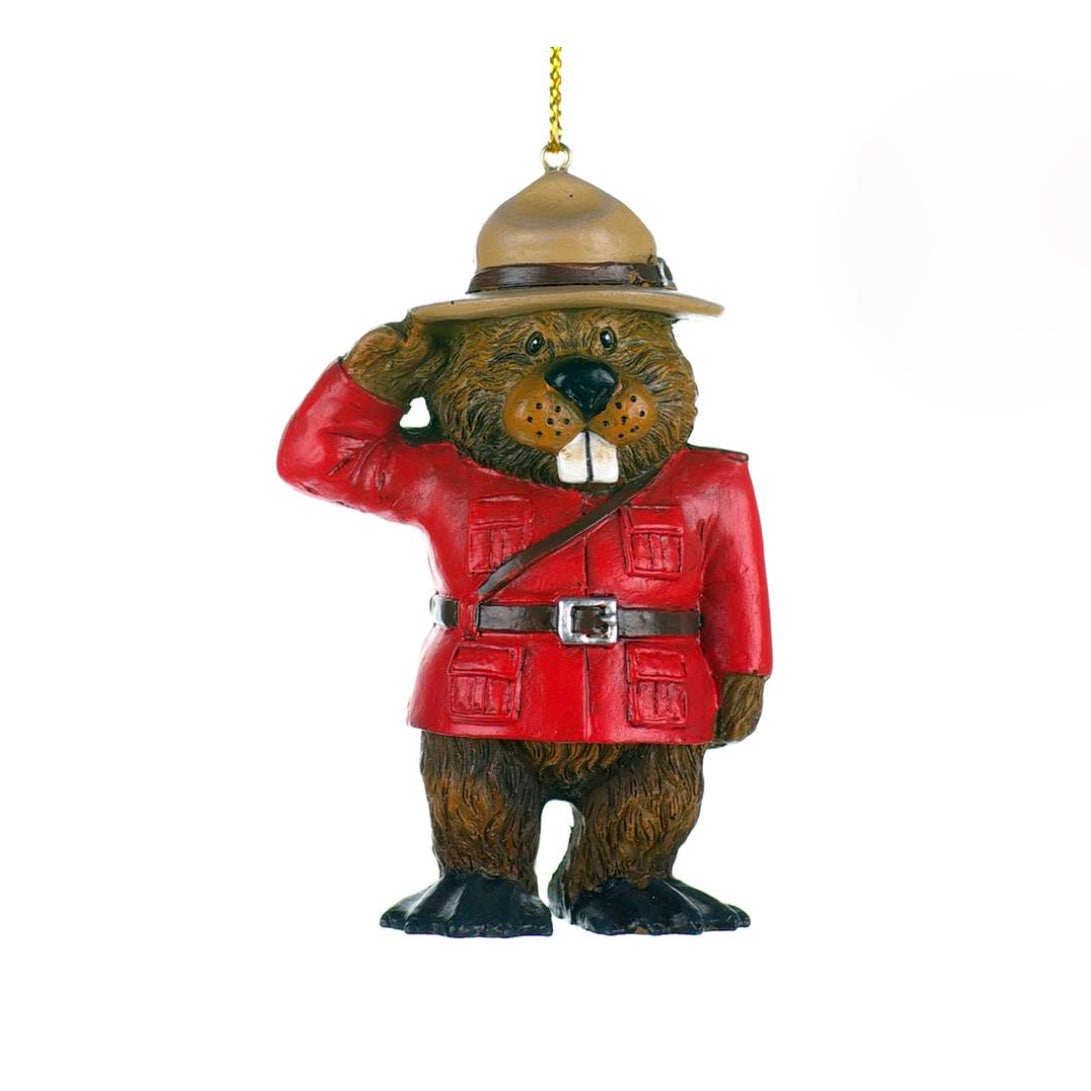 RCMP Mountie Beaver Christmas Ornament