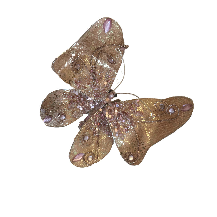 Jim Marvin Butterfly Clip Ornament - Pink