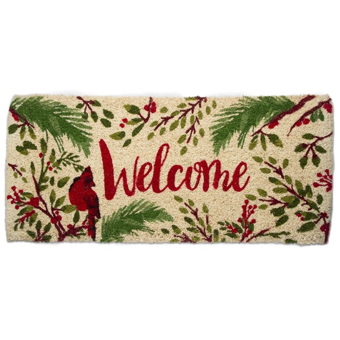 Tag Ltd. Cardinal Welcome Coir Estate Doormat | Putti Christmas Door Mats