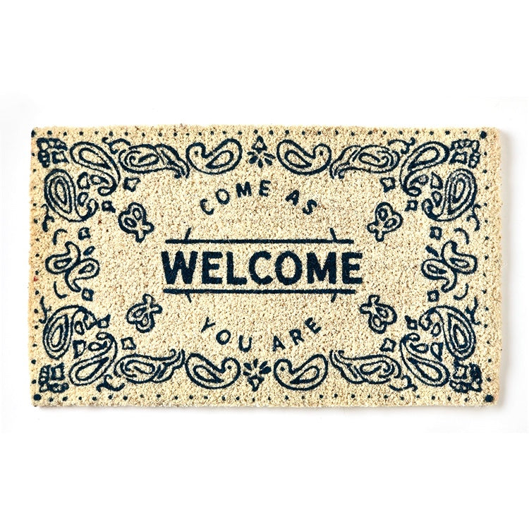 "Tag Ltd. ""Welcome ...Come as you are"" Natural Coir Doormat 
