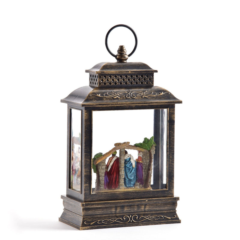 Musical Perpetual Lantern with Nativity Scene and LED Light | Putti Christmas Celebrations
