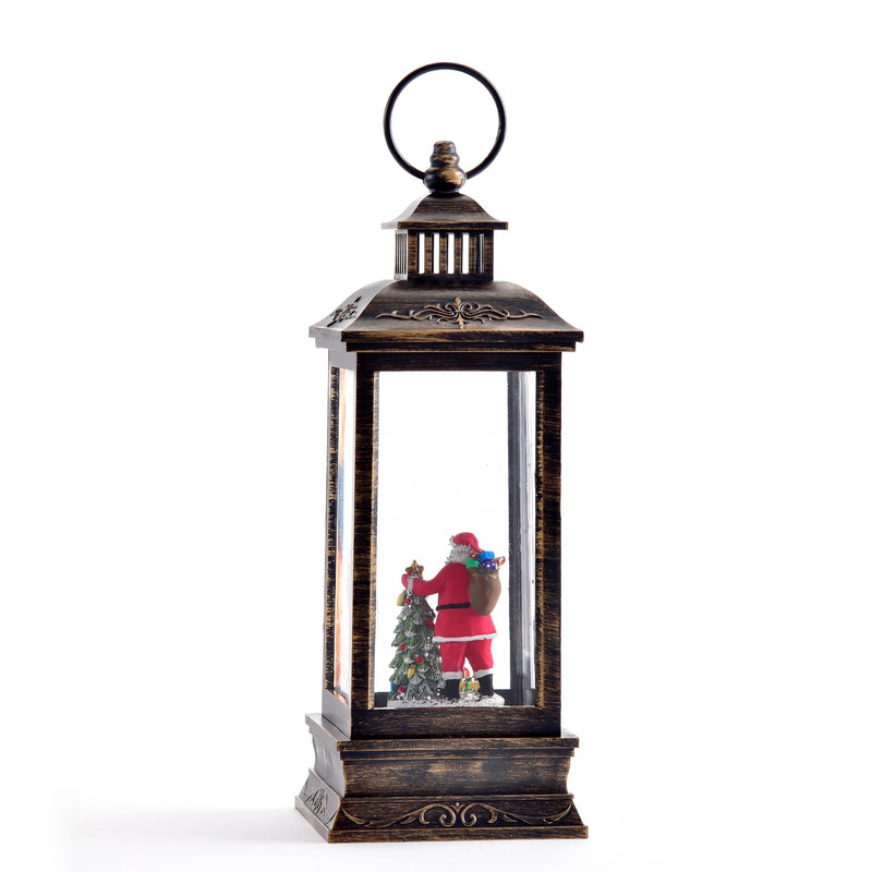 Musical Perpetual Lantern with Santa and LED Light | Putti Christmas Celebrations