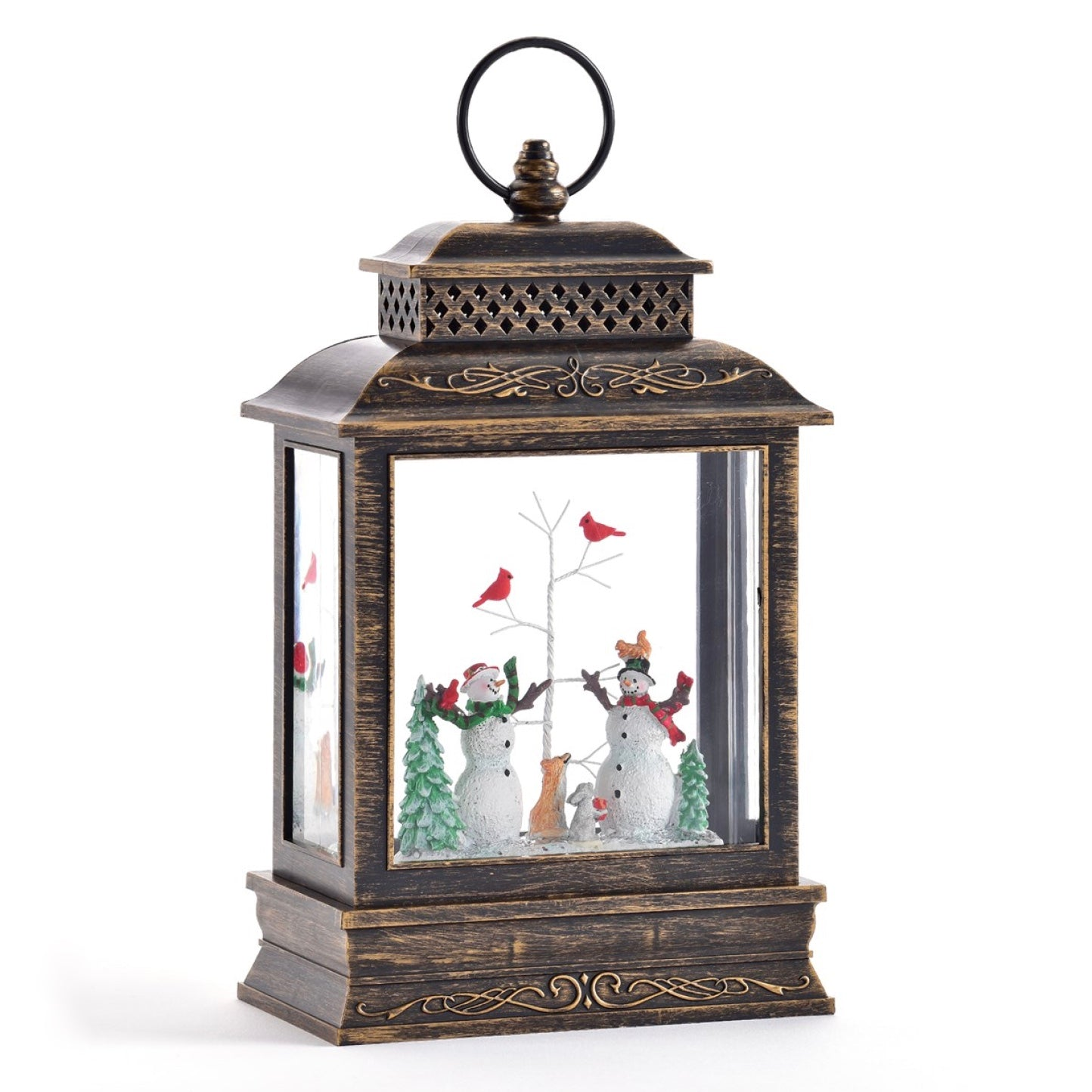 Perpetual Lantern with Snowman Scene and LED Light | Putti Christmas Celebrations