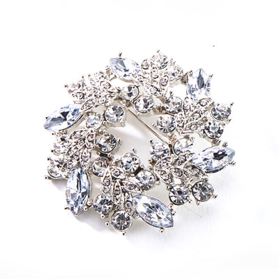 Crystal Wreath Brooch