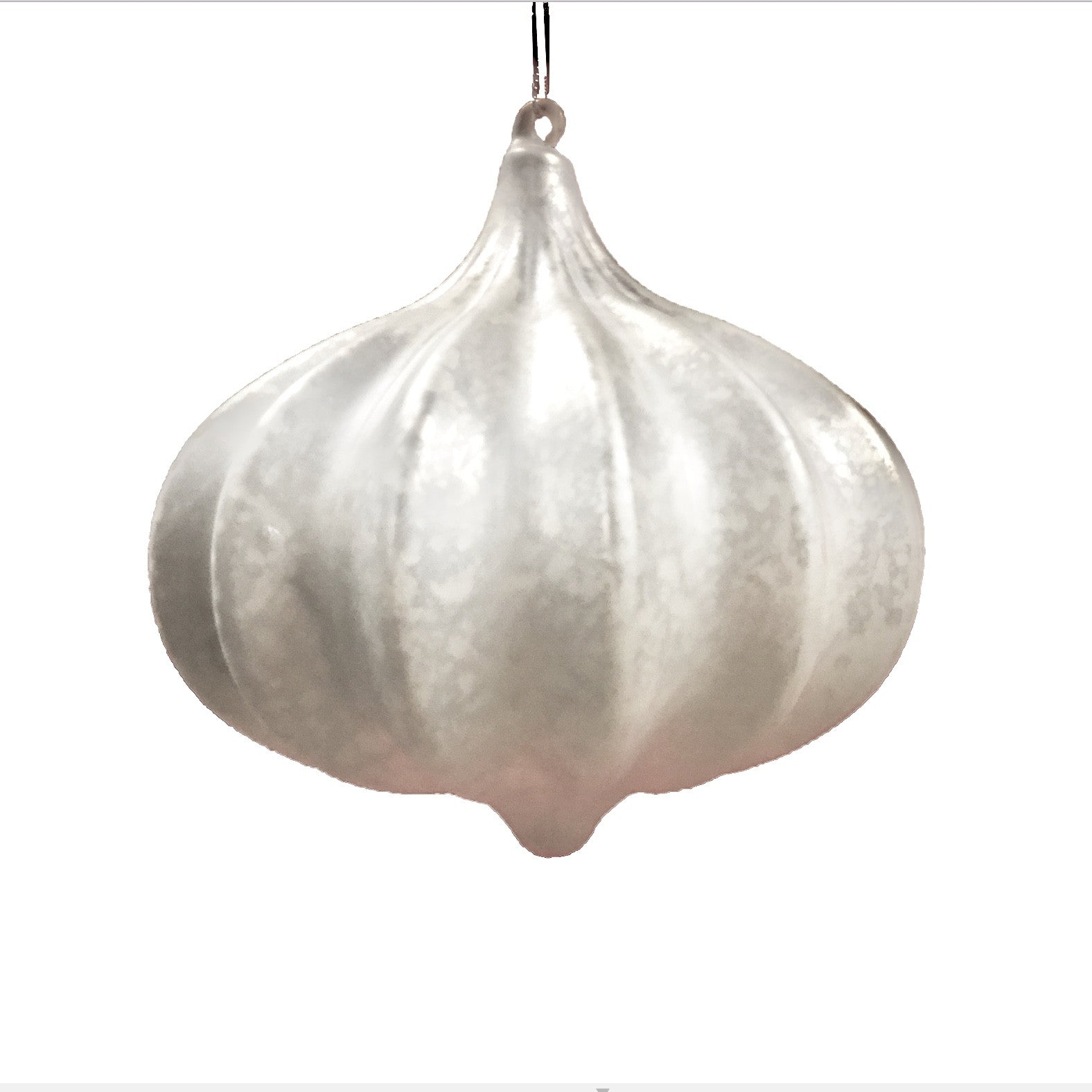 "Jim Marvin ""Kismit"" Ribbed Ornament - White, WCI-Winward Canada, Putti Fine Furnishings"