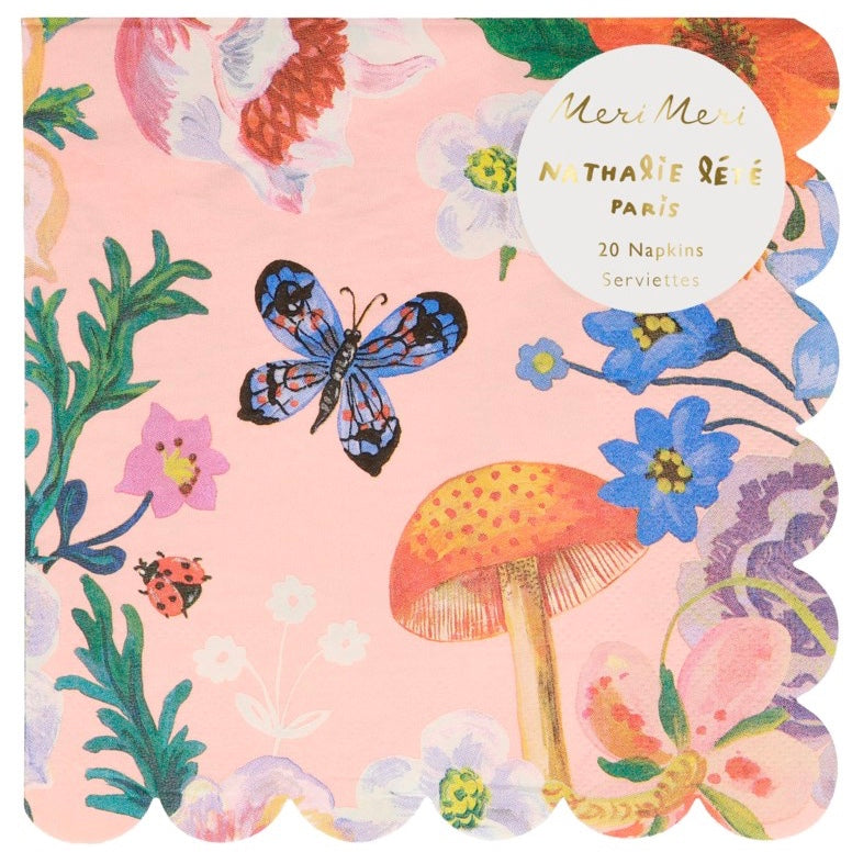 Meri Meri Nathalie Lete Flora Paper Napkins - Large | Putti Party Supplies