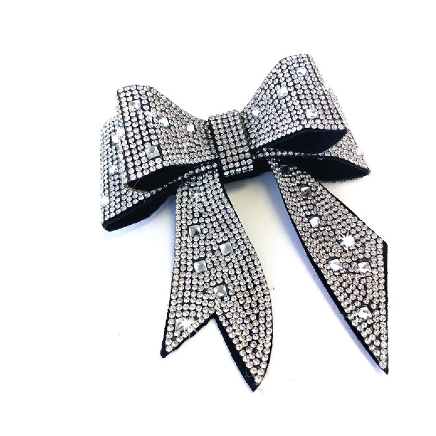 "Jacqueline Kent ""Sugar Cane Collection"" Crystal Bow - Silver"