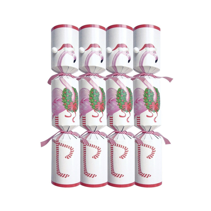 """Christmas Flamingo"" Crackers, CI-Caspari, Putti Fine Furnishings"