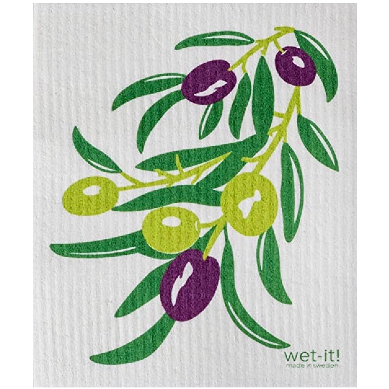 Wet it! Olives Swedish Cloth | Putti Fine Furnishings Canada