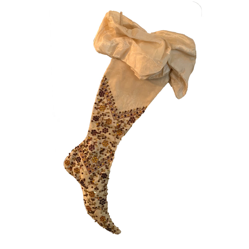 Katherines Collection Beaded Christmas Stocking  | Putti Christmas Celebrations
