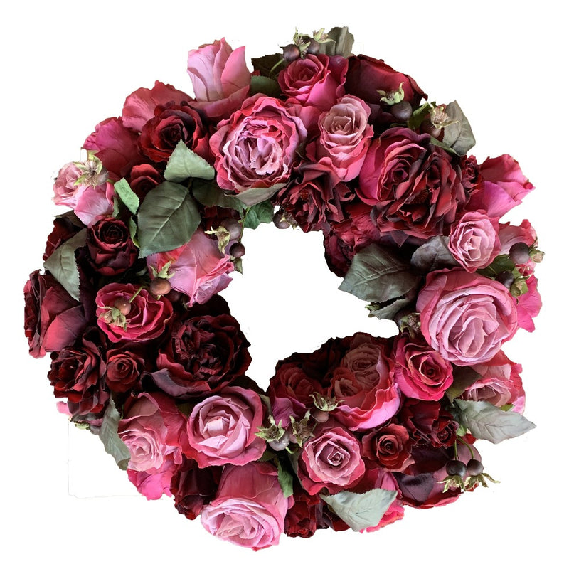 Pink and Red Rose Wreath | Putti Christmas Celebrations