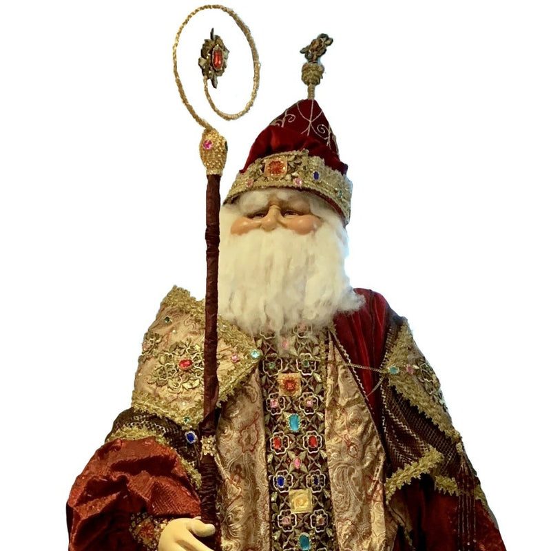 Katherine's Collection Royal Life Size Santa Doll | Putti Christmas Canada