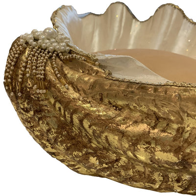 Katherine's Collection Large Clam Shell with Pearls | Putti Christmas Canada