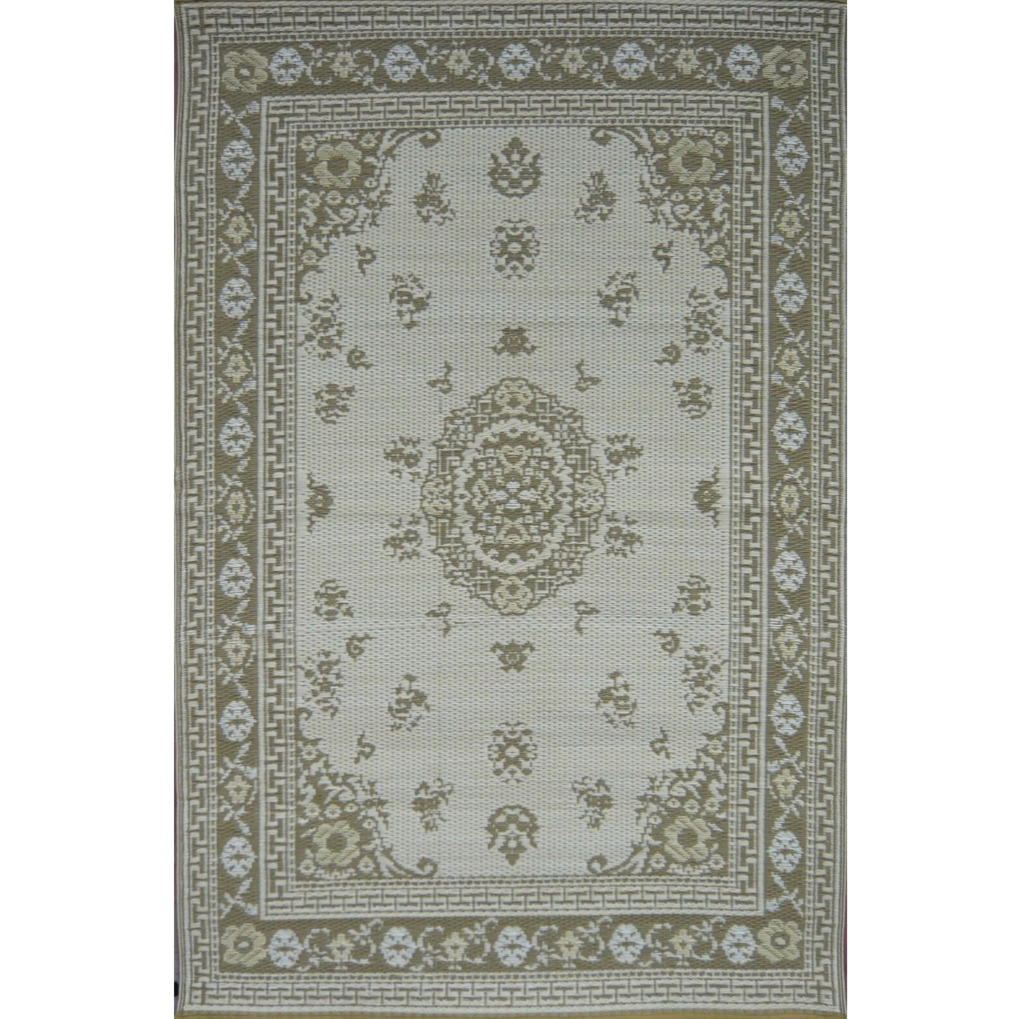 Mad Mats Outdoor Carpet Oriental Floral Light Umber  - Putti Fine Furnishings Canada