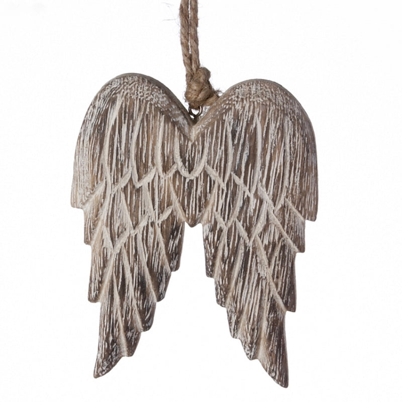 Wooden Angel Wing Ornament