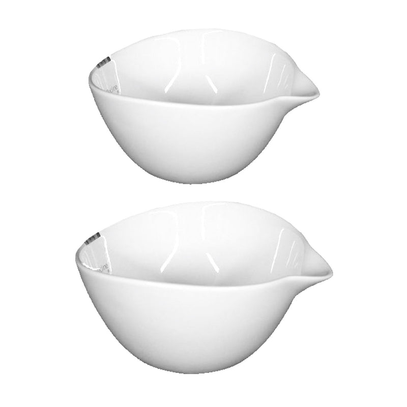 White Tear Drop Bowl - Set of 2