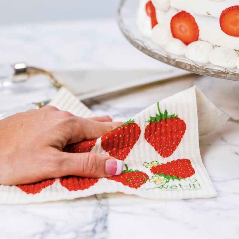 Wet it! Strawberries Swedish Cloth | Putti Fine Furnishings Canada