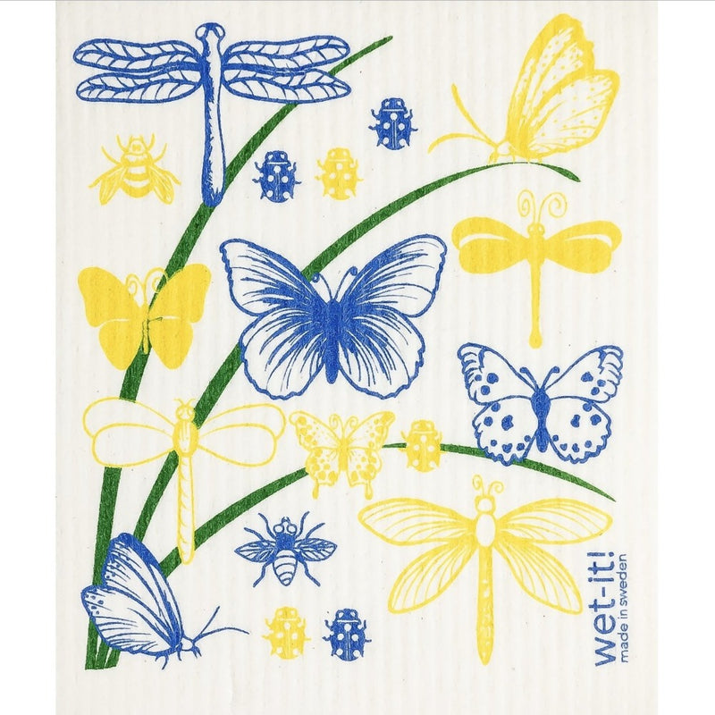 Wet it! Butterflies & Bugs Swedish Cloth | Putti Fine Furnishings Canada