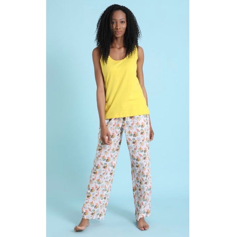 "Mahogany ""Flamingo Paradise"" Pyjama Pant in Bag  