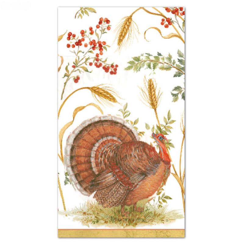 """Golden Harvest"" Paper Napkin - Guest, CI-Caspari, Putti Fine Furnishings"