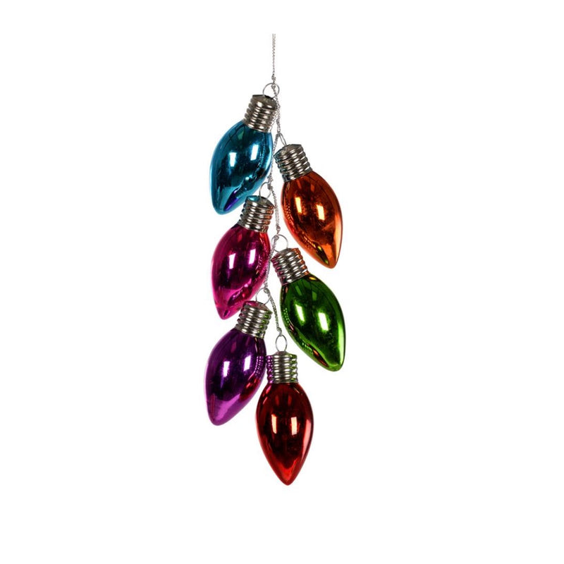 Multi Color Light Bulb Cluster Ornament | Putti Christmas Canada