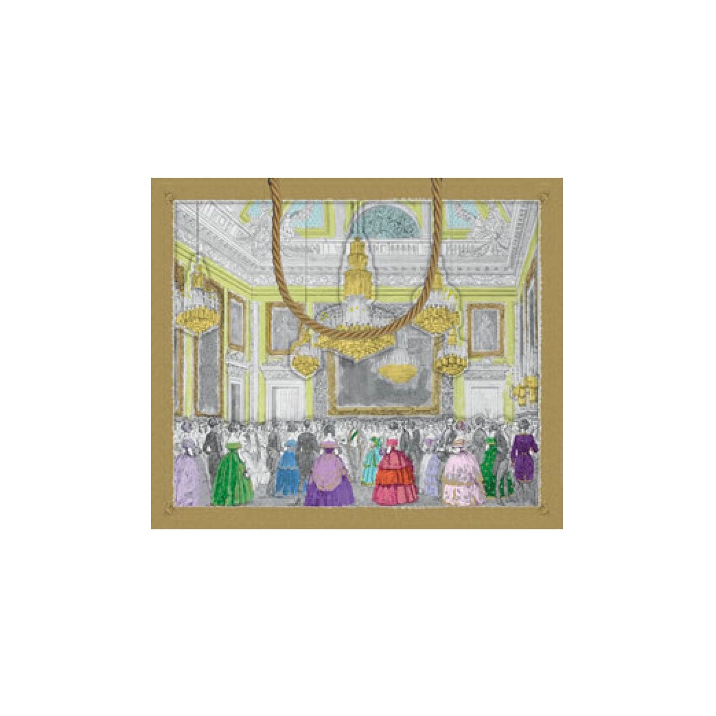 """Devonshire Ball"" Paper Gift Bag - Large, CI-Caspari, Putti Fine Furnishings"