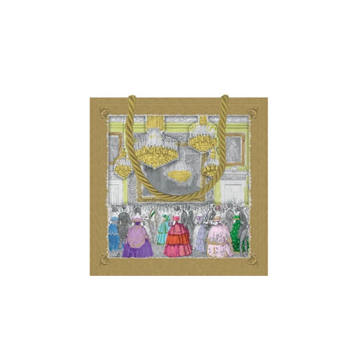 """Devonshire Ball"" Paper Gift Bag - Small, CI-Caspari, Putti Fine Furnishings"