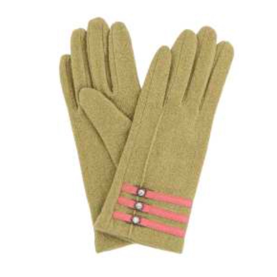 "Powder ""Suzy"" Wool Gloves - Moss"