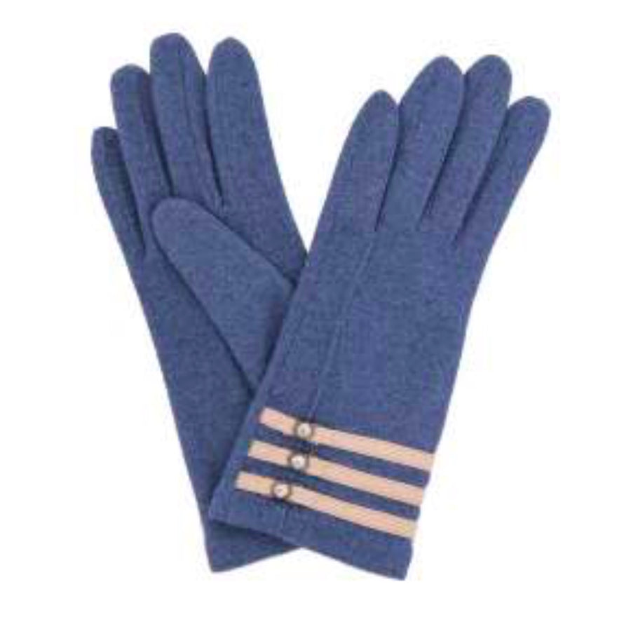 "Powder ""Suzy"" Wool Gloves - French Navy"