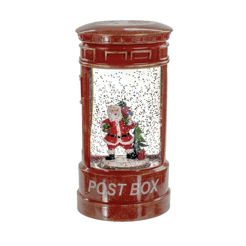 Post Box with Santa Lantern with Perpetual Snow | Christmas Celebrations
