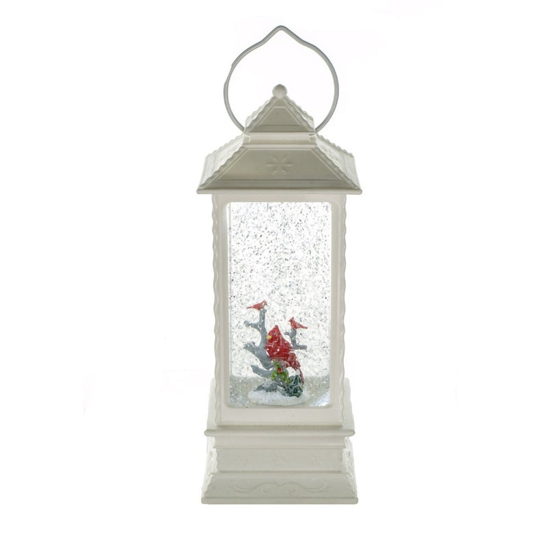 Cardinal Family Lantern with Perpetual Snow | Putti Christmas Celebrations