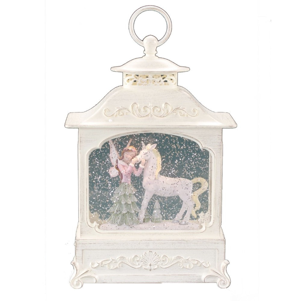 Forest Nymph & Unicorn Perpetual Snow Lantern with Music