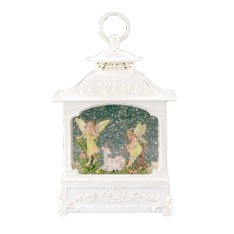 Fairy Garden Nymph Perpetual Snow Lantern with Music | Putti Christmas
