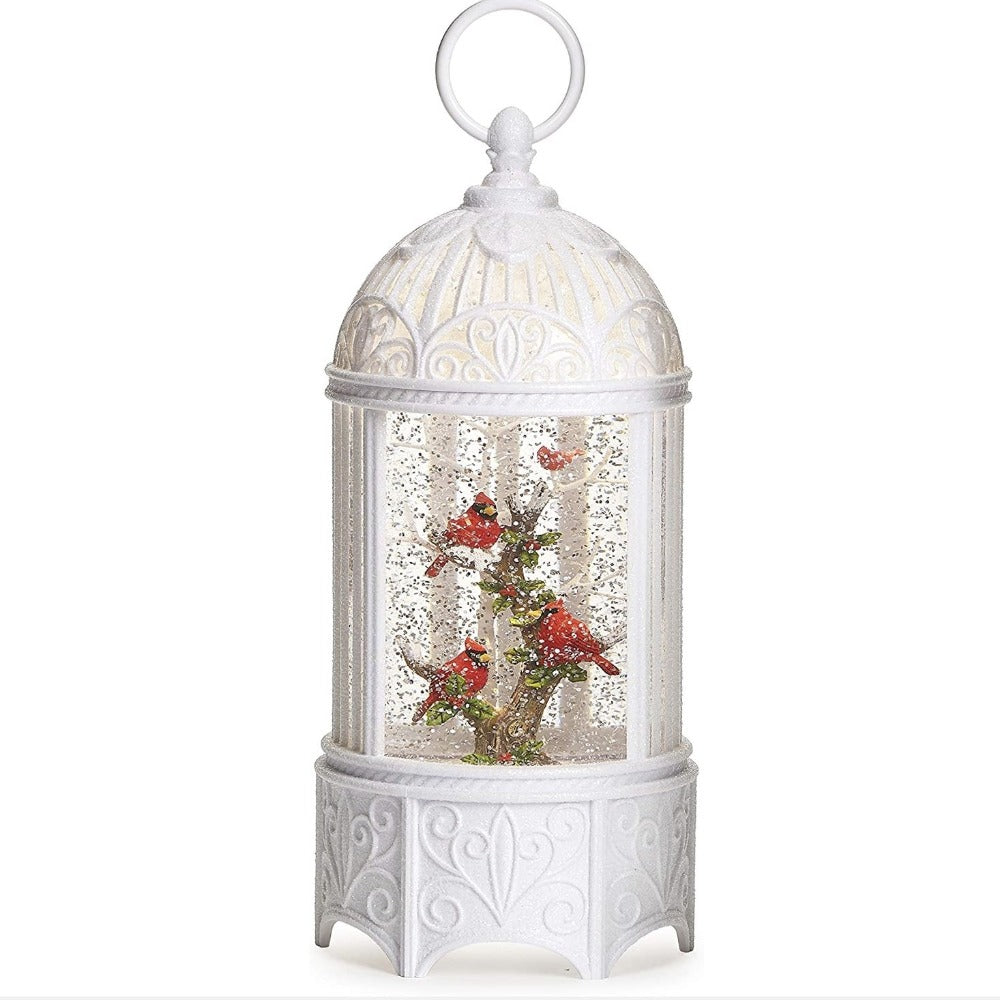 Cardinals Birdcage with Perpetual Snow | Putti Christmas