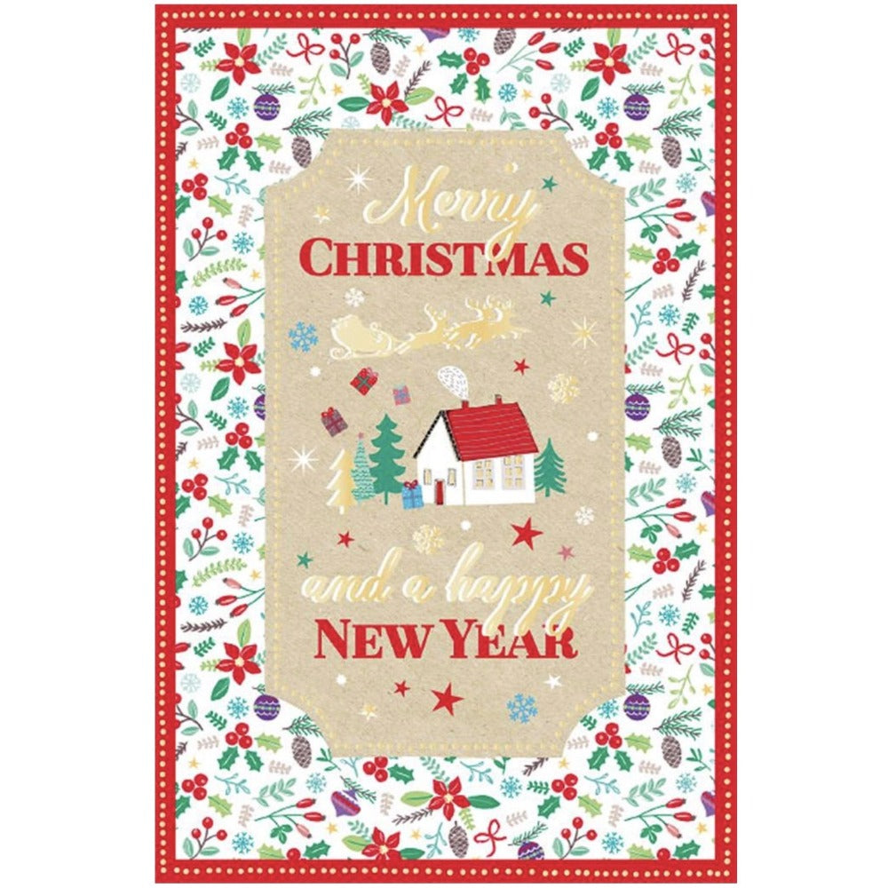 """Merry Christmas and a Happy New Year"" Greeting Card"